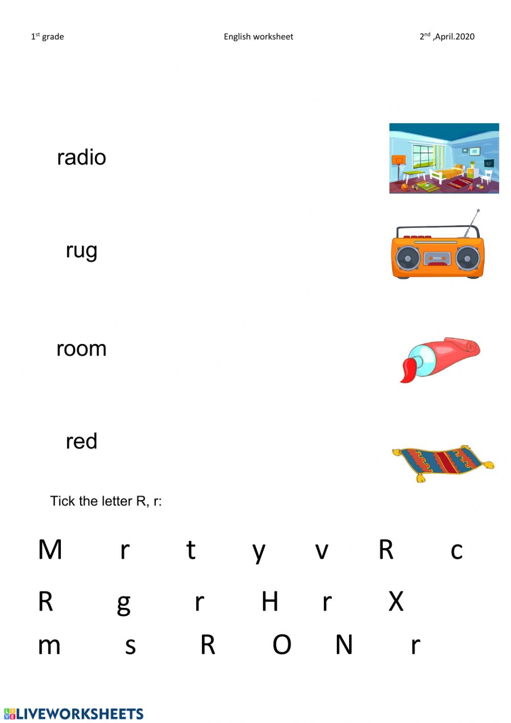 medium resolution of Letter r worksheet worksheet