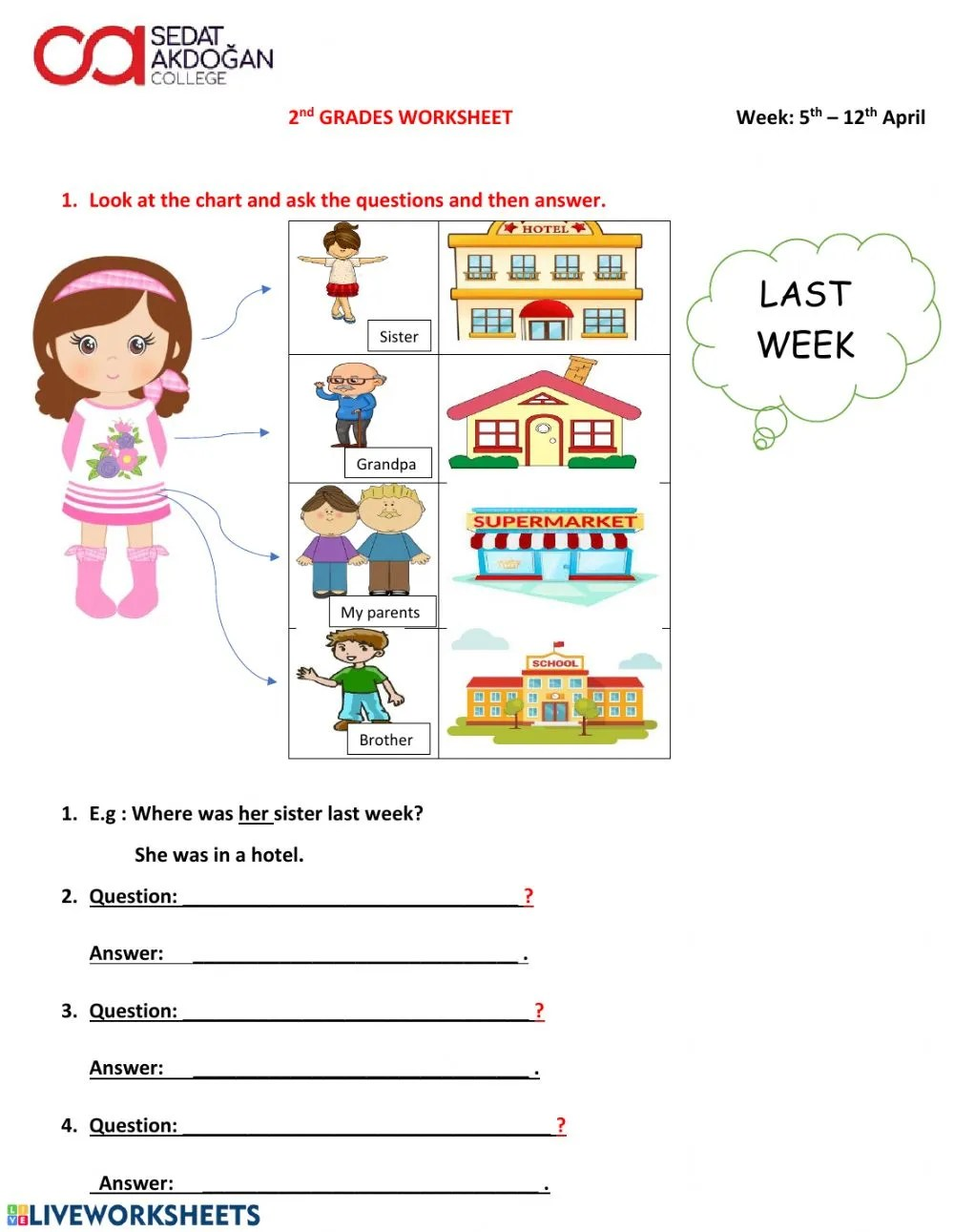 hight resolution of 2nd Grade Worksheet