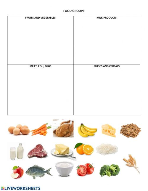 small resolution of Food Groups interactive worksheet