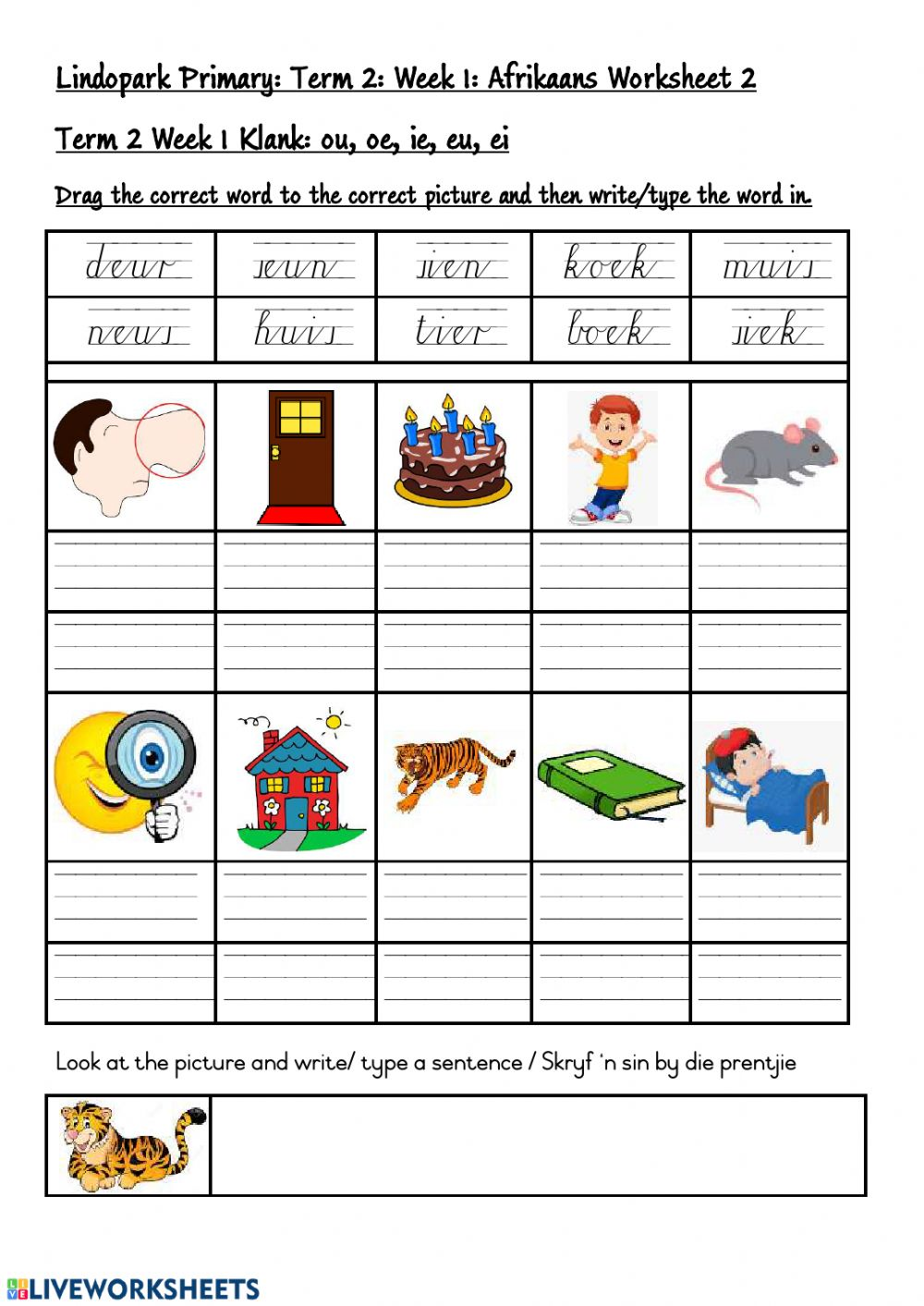 hight resolution of Grade 3: FAL Afrikaans Worksheet 2 worksheet