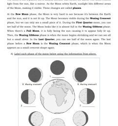 The Moon Phases and Eclipse worksheet [ 1413 x 1000 Pixel ]