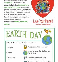 Earth Day interactive activity for Grade 4 [ 1413 x 1000 Pixel ]