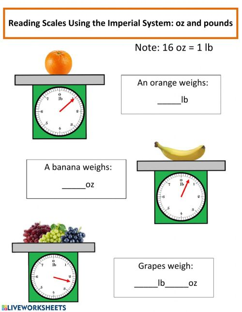 small resolution of Measurements of Mass worksheet