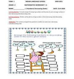 Descending order interactive worksheet [ 1291 x 1000 Pixel ]
