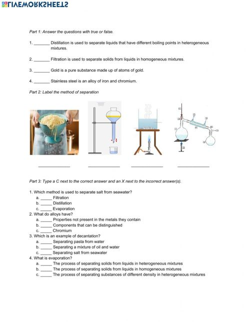 small resolution of Natural Science 6th Grade ESL - Unit 7 Matter and Energy worksheet