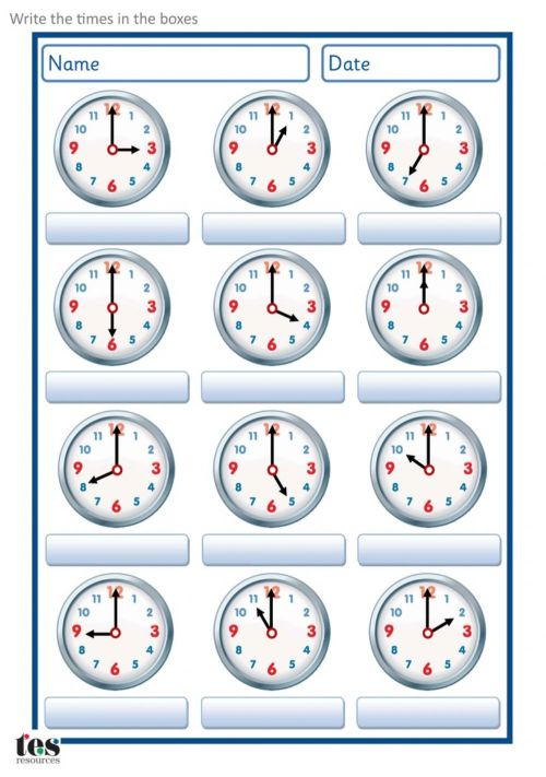 small resolution of Time interactive exercise for Grade 2