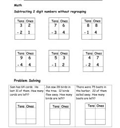 2 digit Subtraction worksheet [ 1291 x 1000 Pixel ]