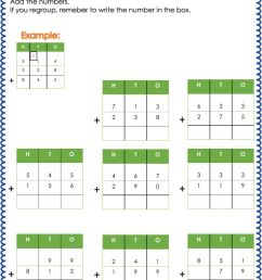 Addition with regrouping worksheet [ 1332 x 1000 Pixel ]