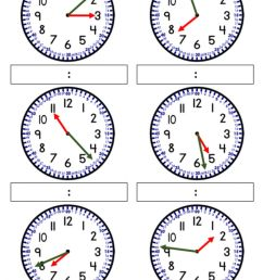 Telling time to nearest minute. worksheet [ 1443 x 1000 Pixel ]