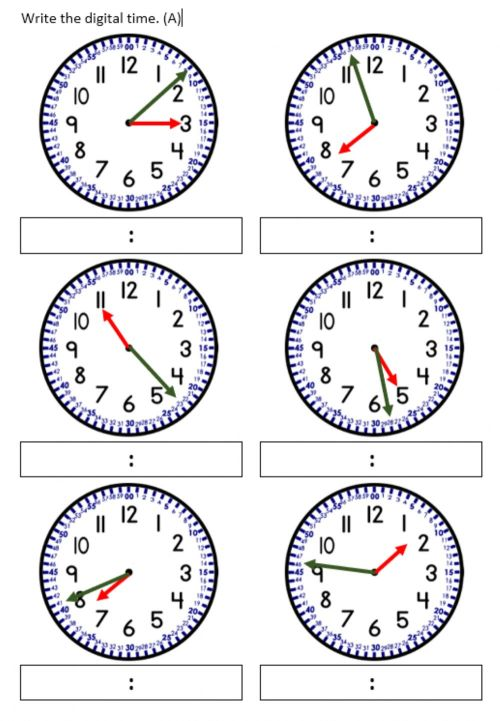 small resolution of Telling time to nearest minute. worksheet