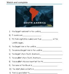 South america worksheet [ 1413 x 1000 Pixel ]
