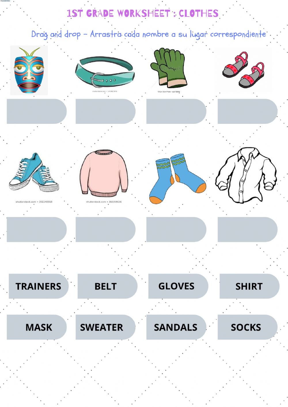 hight resolution of 3rd grade clothes worksheet