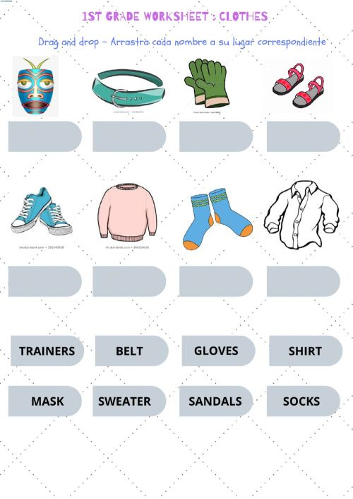 small resolution of 3rd grade clothes worksheet