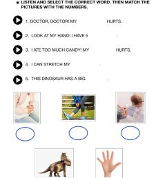 Parts of the body worksheet for GRADE 1 [ 1413 x 1000 Pixel ]