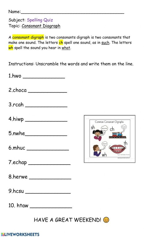 small resolution of Consonant Digraph worksheet