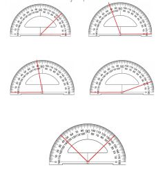 4.MD.6 Measuring angles with a protractor worksheet [ 1291 x 1000 Pixel ]
