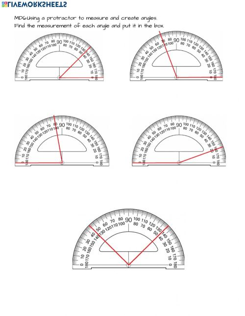 small resolution of 4.MD.6 Measuring angles with a protractor worksheet
