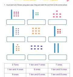 Tens and ones - Place value worksheet [ 1291 x 1000 Pixel ]