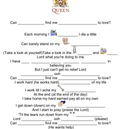 Song to learn indefinite pronouns worksheet [ 1413 x 1000 Pixel ]