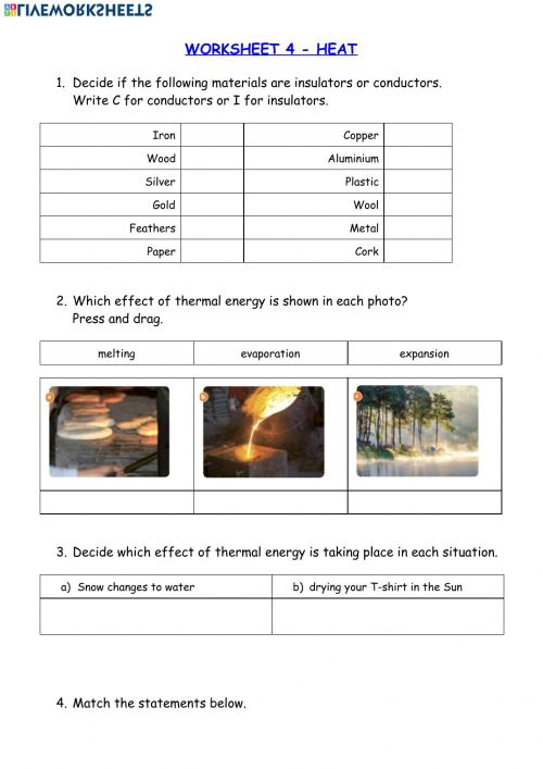 small resolution of Heat-Thermal energy worksheet