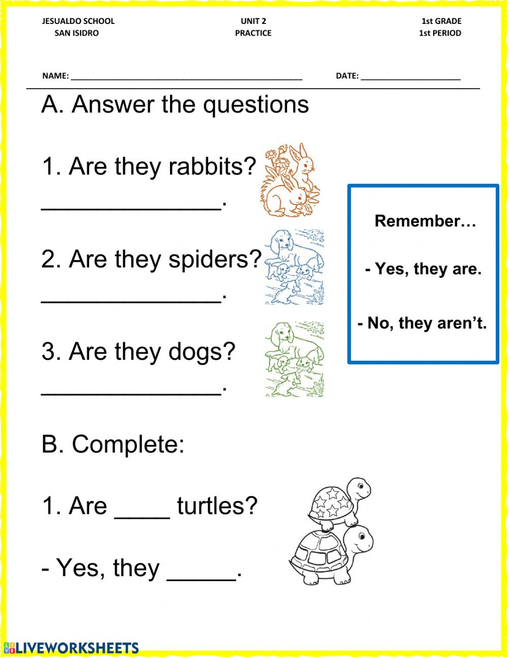 hight resolution of What are they? worksheet