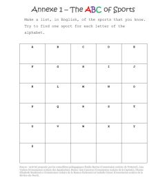 Grade 3 ABC of Sports worksheet [ 1291 x 1000 Pixel ]