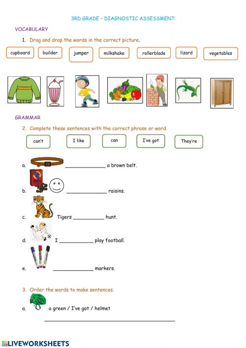 small resolution of Revision 3rd grade interactive worksheet
