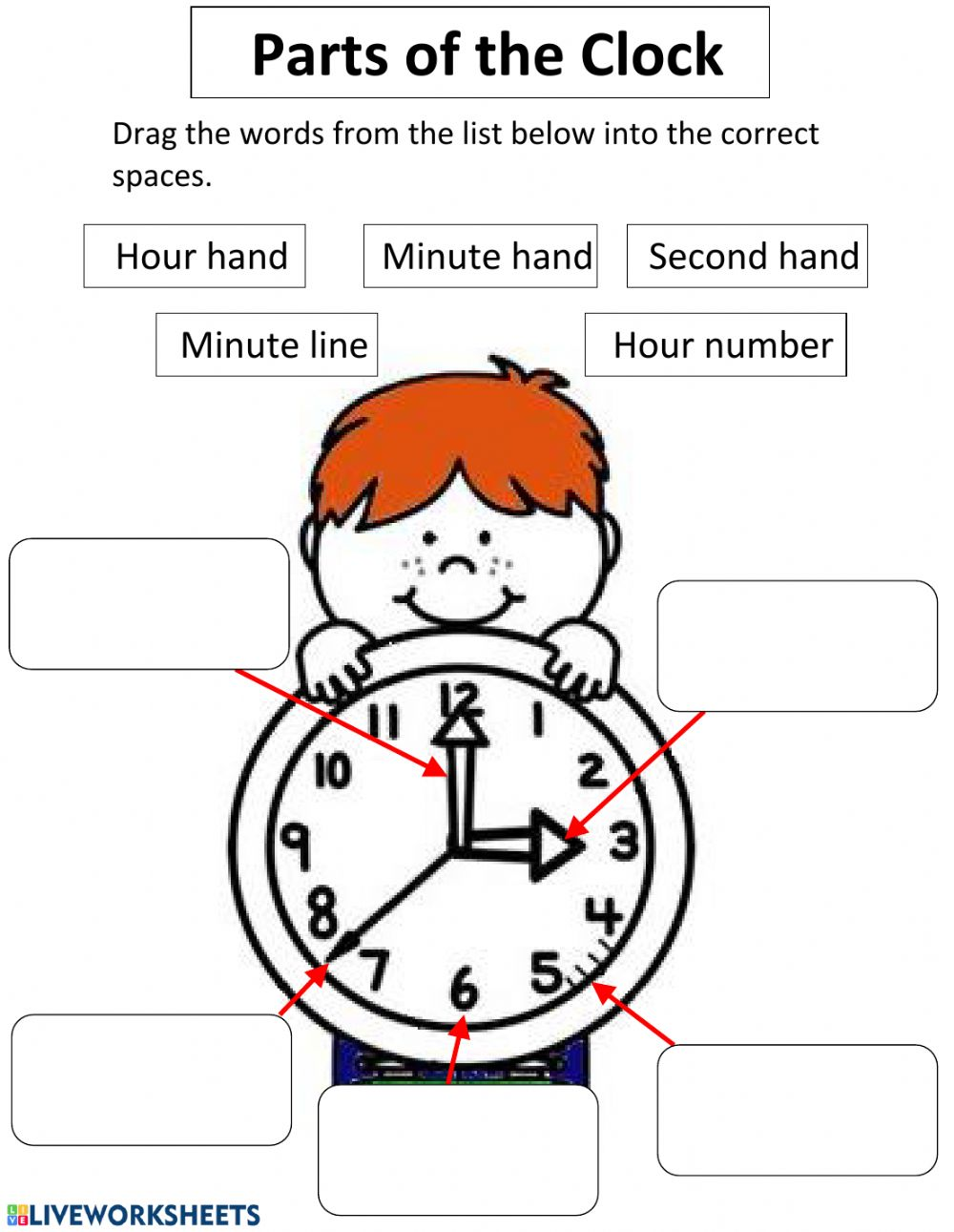hight resolution of Parts of The Clock interactive worksheet