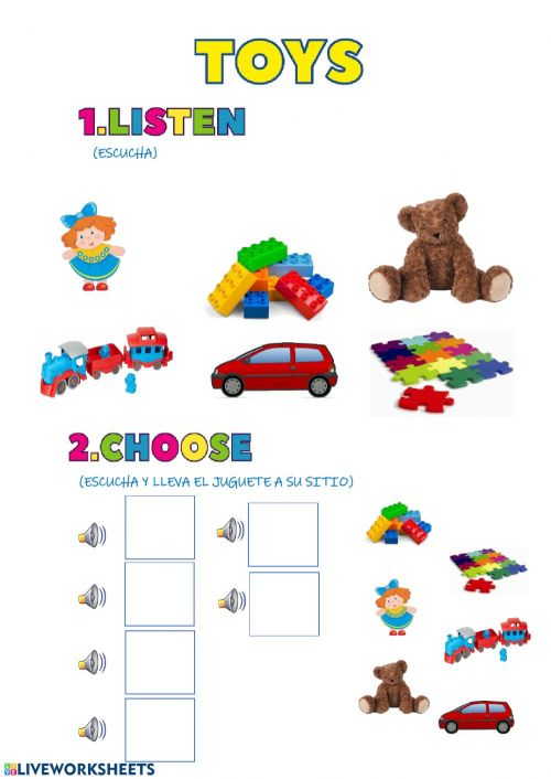 small resolution of Toys 3 years old worksheet