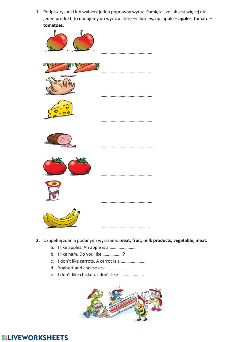 hight resolution of Food group class 1 worksheet