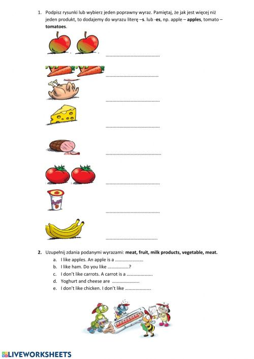 small resolution of Food group class 1 worksheet