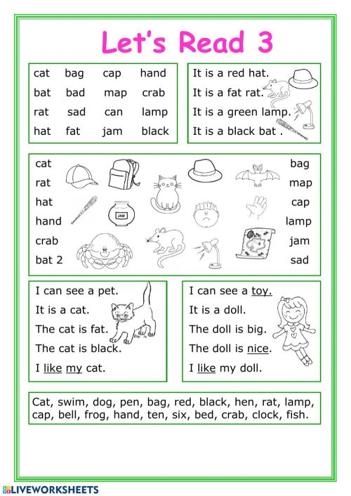 small resolution of Let's read 3 worksheet