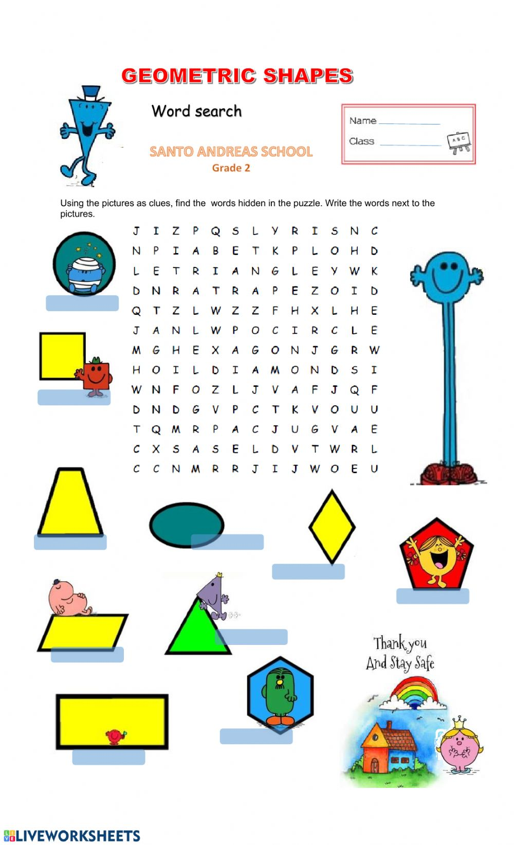 hight resolution of Geometric Shapes exercise