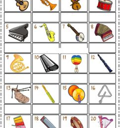 Musical instruments interactive exercise for 3rd grade [ 1414 x 1000 Pixel ]