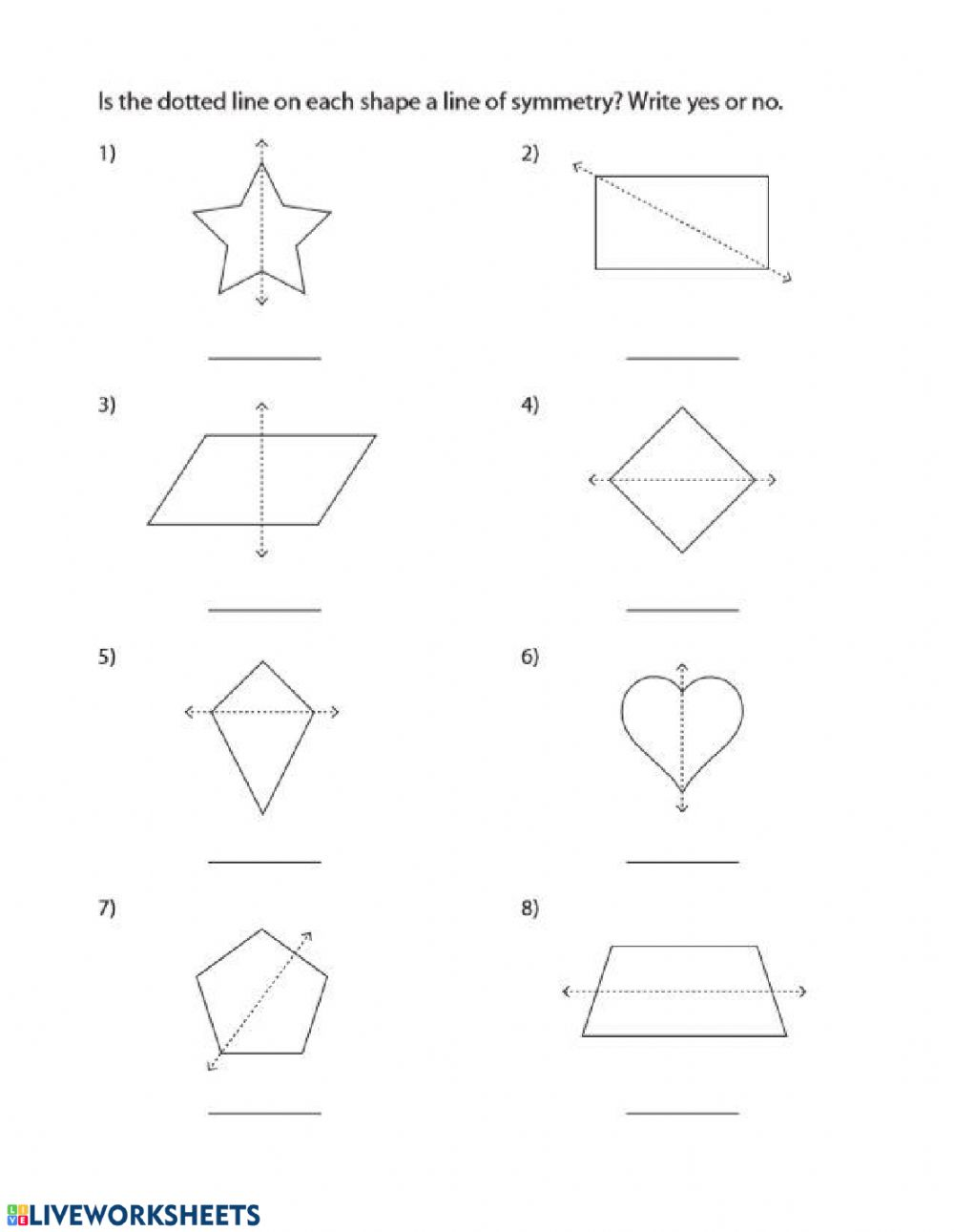 hight resolution of Symmetry worksheet