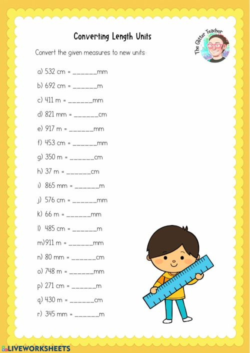 small resolution of Converting Length Units worksheet