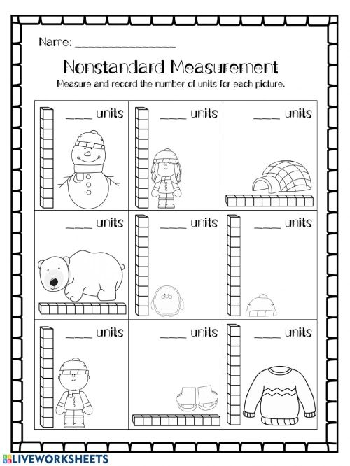 small resolution of Non-standard unit Measurement worksheet