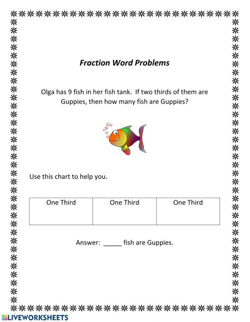 small resolution of Fraction Word Problems worksheet