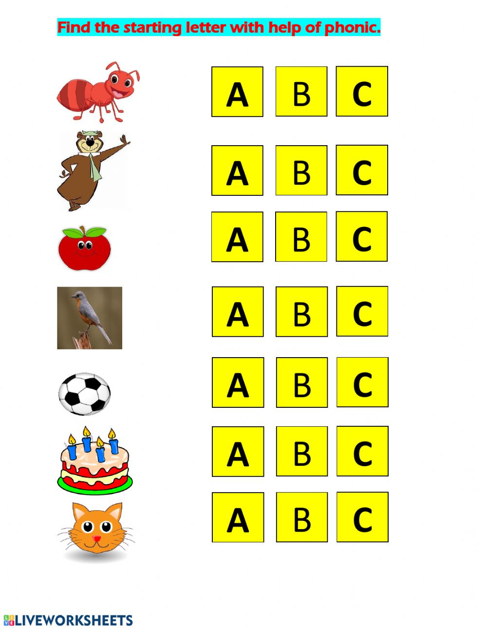 hight resolution of english phonic practice ABC worksheet