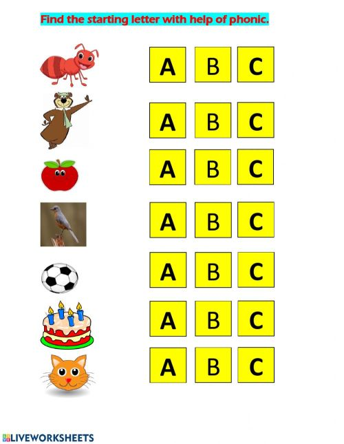 small resolution of english phonic practice ABC worksheet