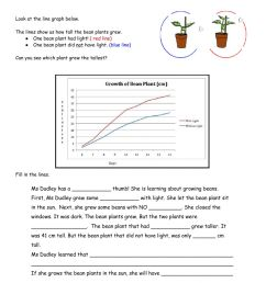 Bean Plant Line Graph worksheet [ 1291 x 1000 Pixel ]
