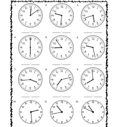 Telling Time interactive exercise for grade 3 [ 1291 x 1000 Pixel ]