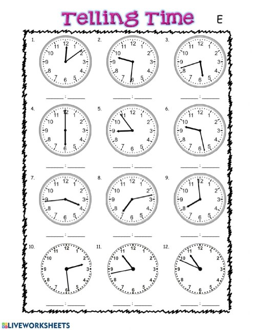 small resolution of Telling Time interactive exercise for grade 3
