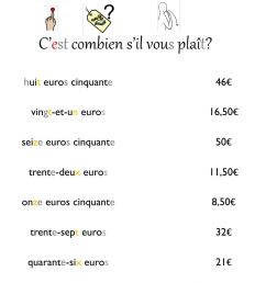 French numbers to 50 worksheet [ 1413 x 1000 Pixel ]