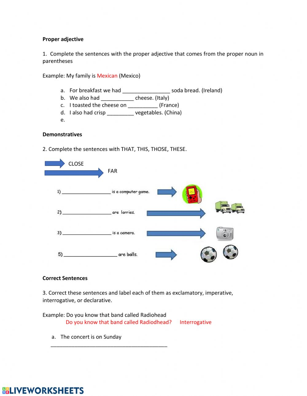 hight resolution of Grammar Test interactive exercise