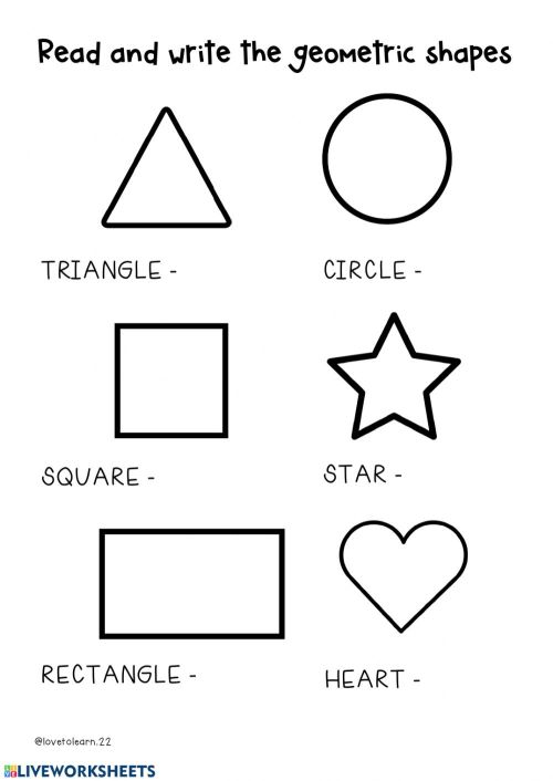 small resolution of Geometric shapes interactive worksheet