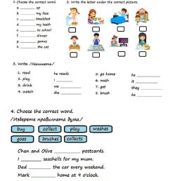 Present Simple-3rd Grade worksheet [ 1413 x 1000 Pixel ]