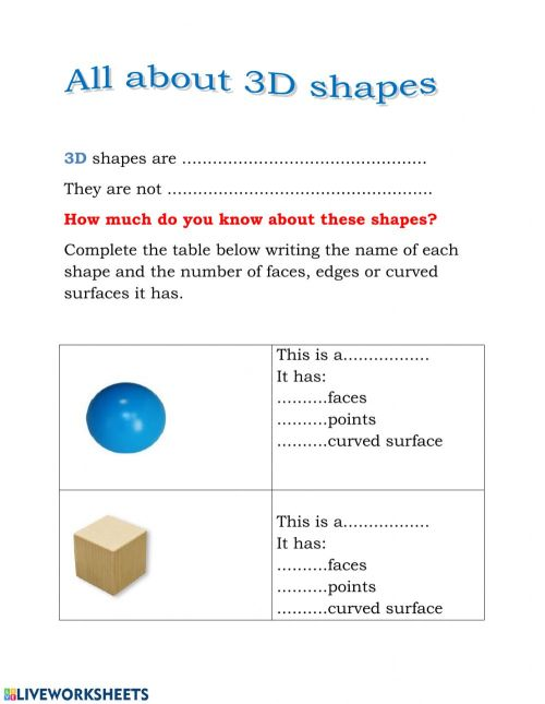 small resolution of 3D Shapes worksheet