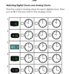 Match Digital and Analog Clocks worksheet [ 1265 x 1000 Pixel ]
