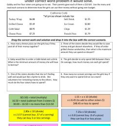 Drag and Drop Inequality Word Problems worksheet [ 1291 x 1000 Pixel ]